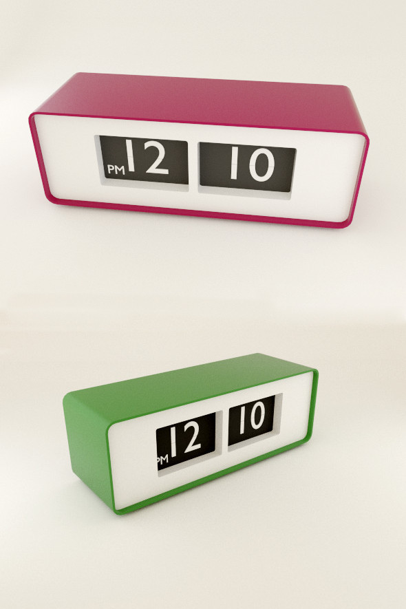 3DOcean Modern table clock 7973524