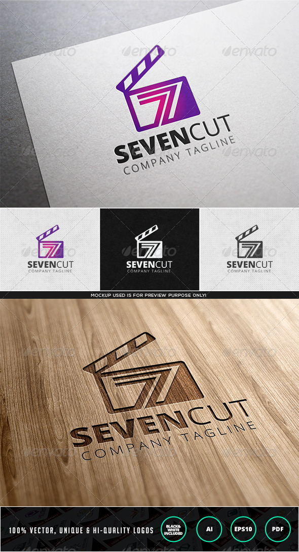 Sevencut Logo Template - Numbers Logo Templates