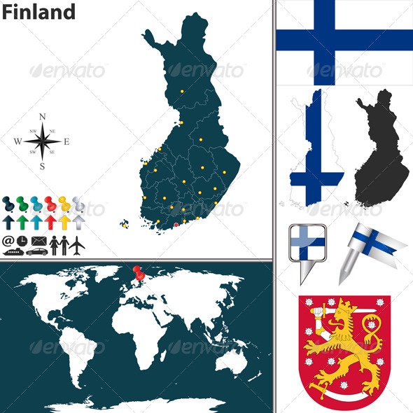 GraphicRiver Map of Finland 7973567