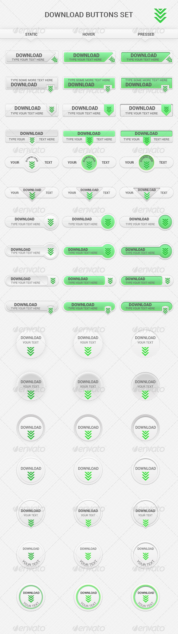 GraphicRiver Download Buttons Set 7973616
