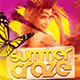 Summer Craze Flyer Template PSD