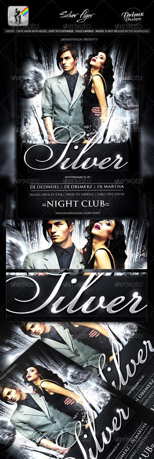 GraphicRiver Silver Flyer 7973850