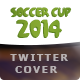 Brazil Soccer Cup 2014 Football - Twitter Cover - GraphicRiver Item for Sale