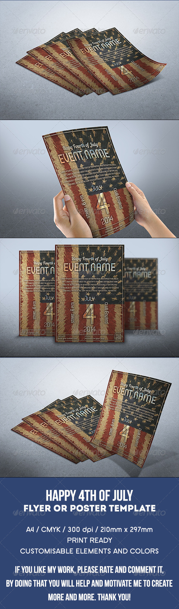 GraphicRiver Independence Day Flyer 7973899