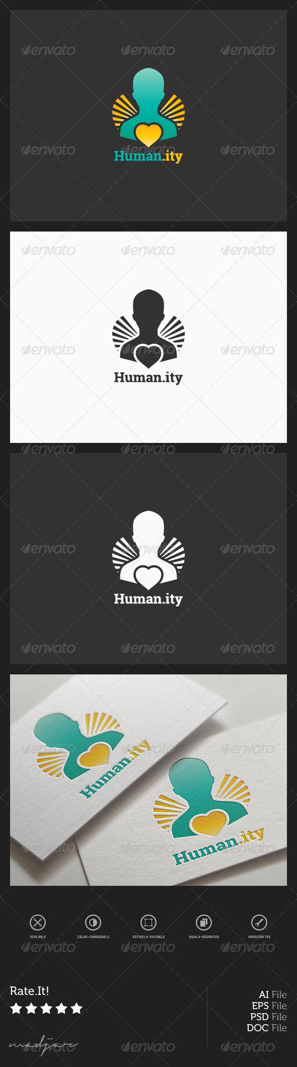 Charity Logo - Humans Logo Templates