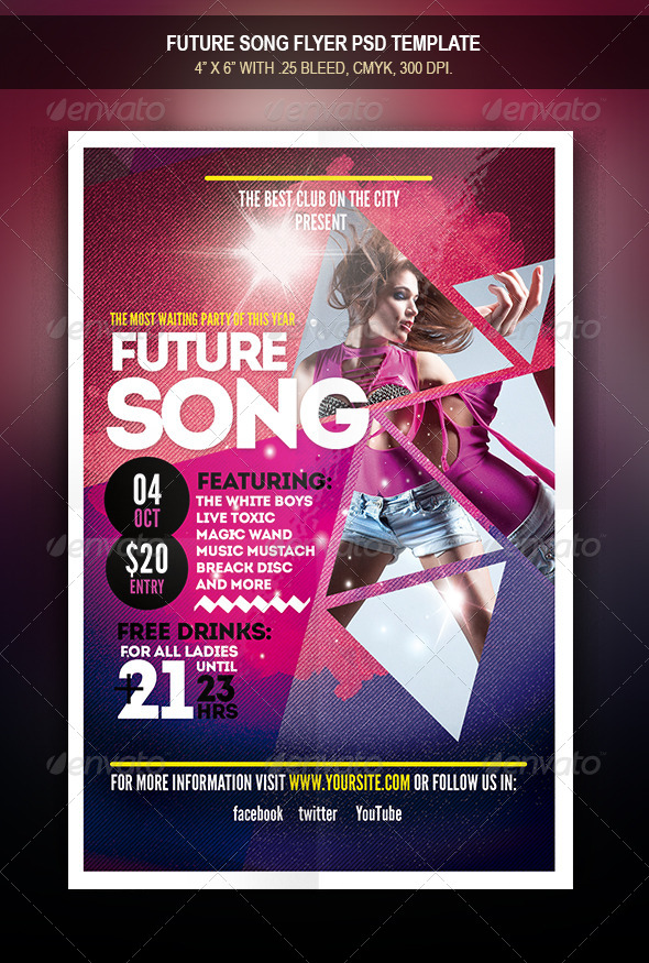 GraphicRiver Future Song Flyer 7973913