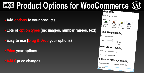 CodeCanyon Product Options for WooCommerce WP Plugin 7973927
