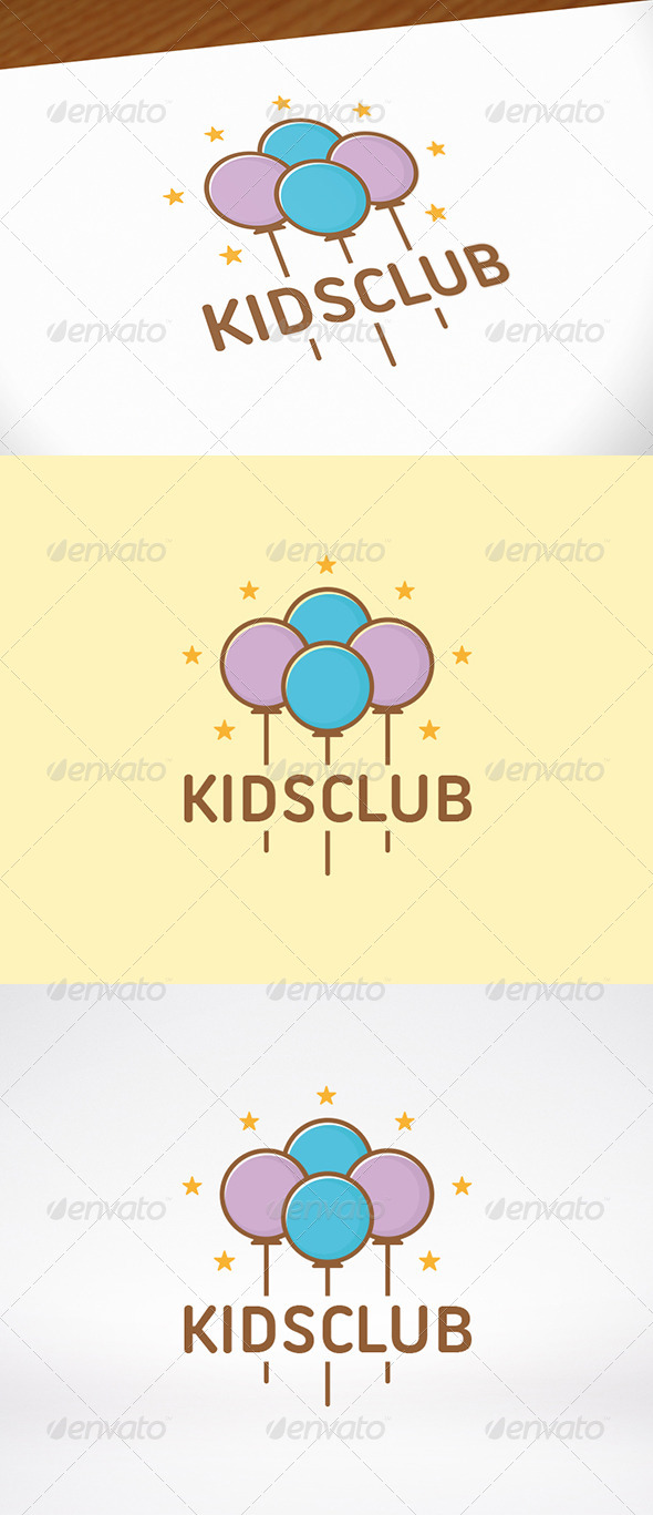 GraphicRiver Kids Party Logo Template 7973955