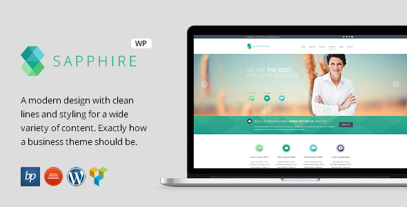 ThemeForest Sapphire Responsive Business WordPress Theme 7973960
