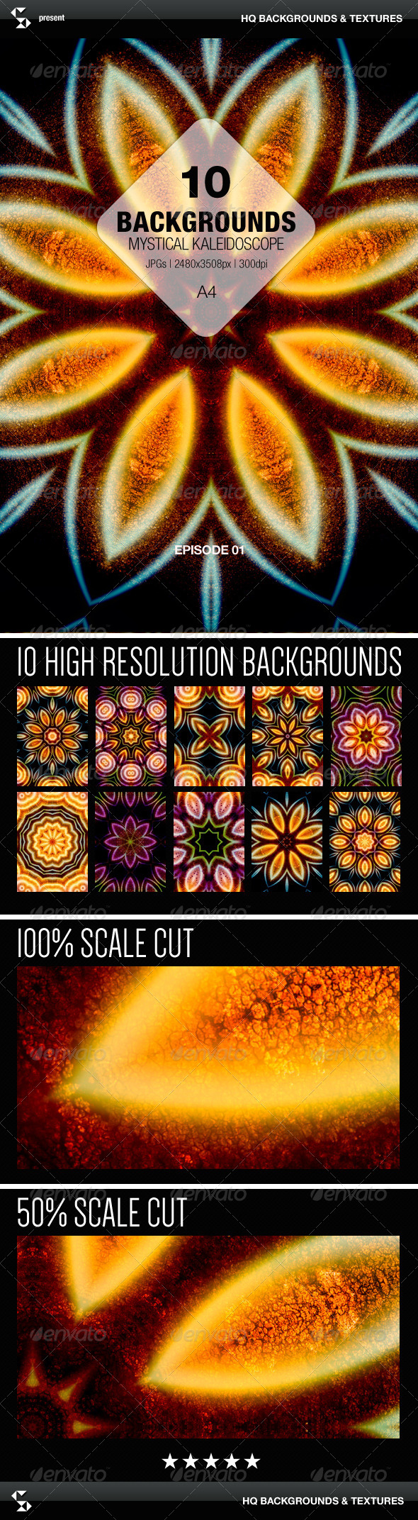 GraphicRiver Mystical Kaleidoscope Backgrounds Episode 01 7973968