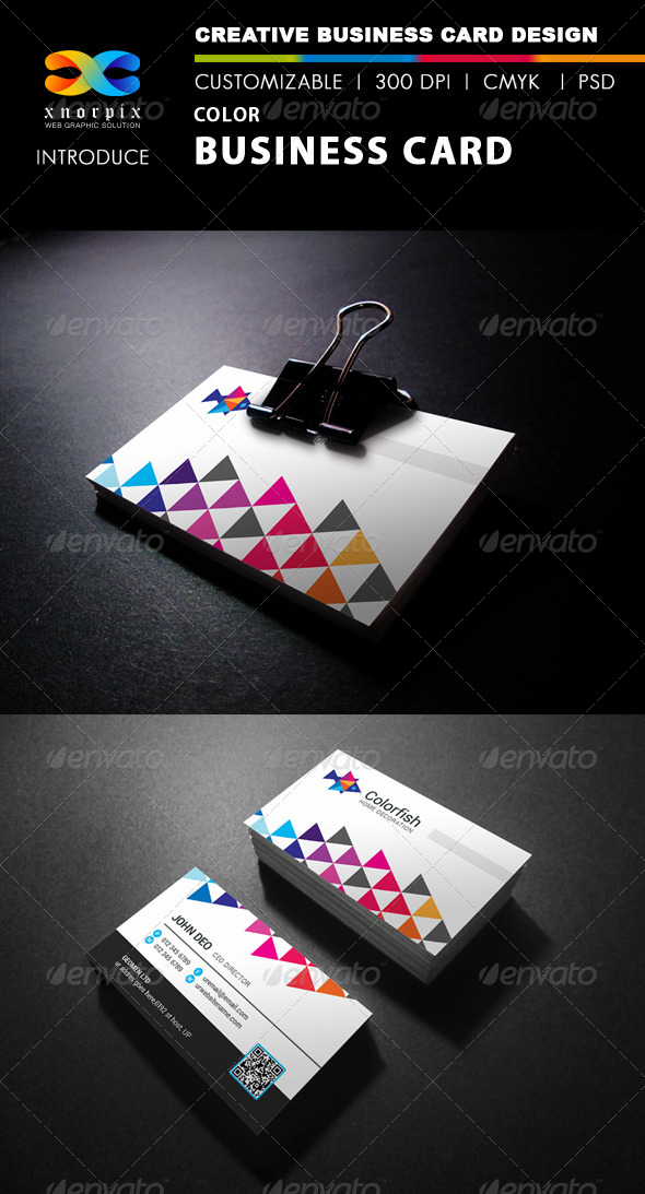 GraphicRiver Color Business Card 7974021