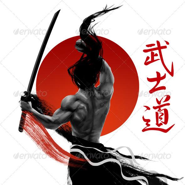 GraphicRiver Samurai Dragons 7974030