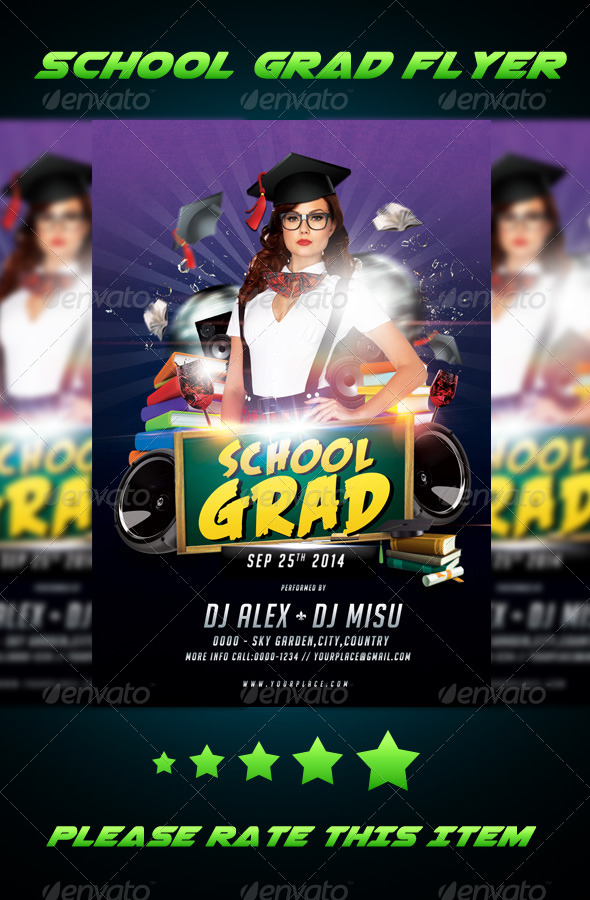 GraphicRiver School Grad Flyer 7974037