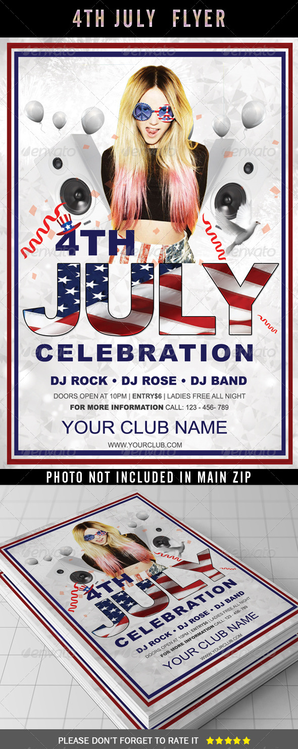 GraphicRiver 4th July Flyer Template 7974041