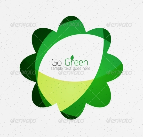 GraphicRiver Green Eco Background Flowers 7974051