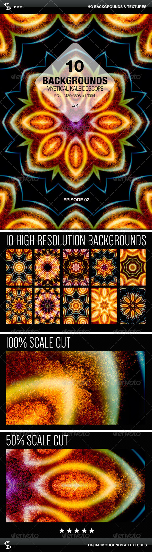 GraphicRiver Mystical Kaleidoscope Backgrounds Episode 02 7974065