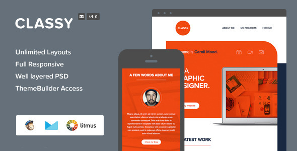 ThemeForest Classy Responsive Email & Themebuilder Access 7921313