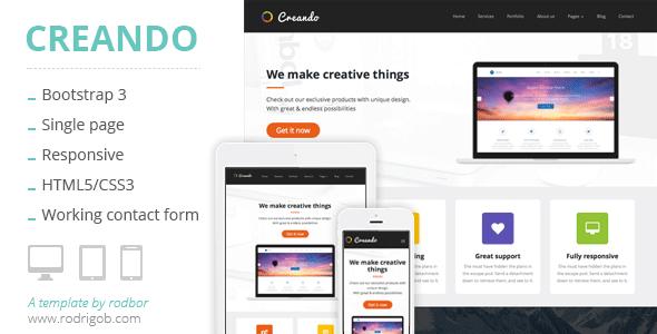 ThemeForest Creando Creative Onepage Parallax HTML Template 7974080
