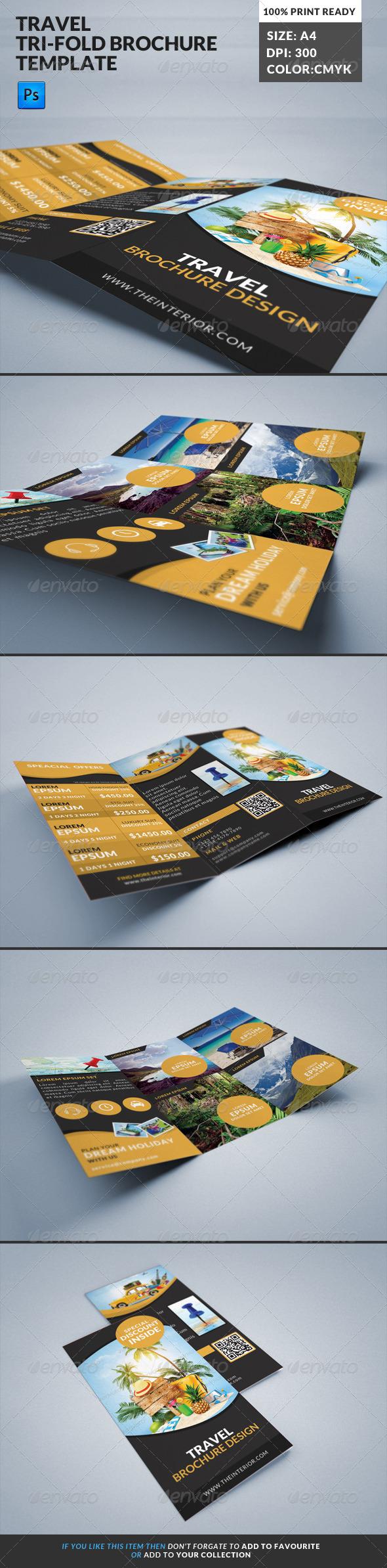 GraphicRiver Travel Tourism Tri-Fold Brochure 7974106