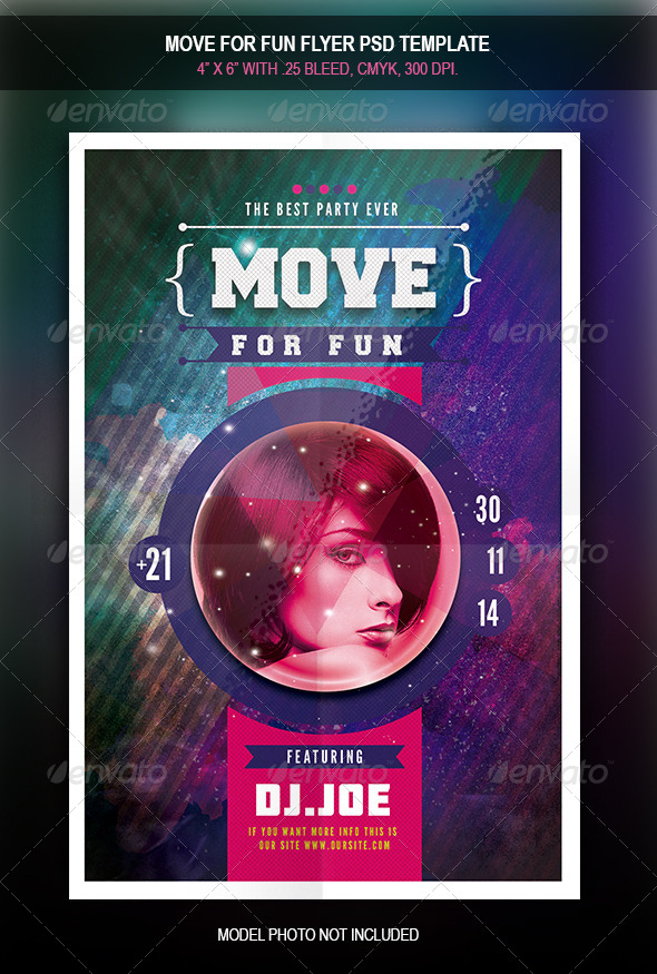 GraphicRiver Move For Fun Flyer 7974119