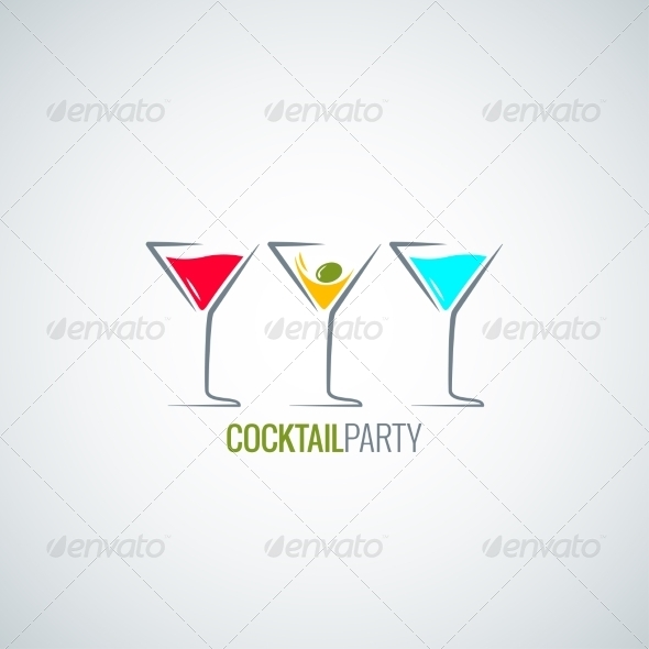 GraphicRiver Cocktail Party Glass Background 7974138