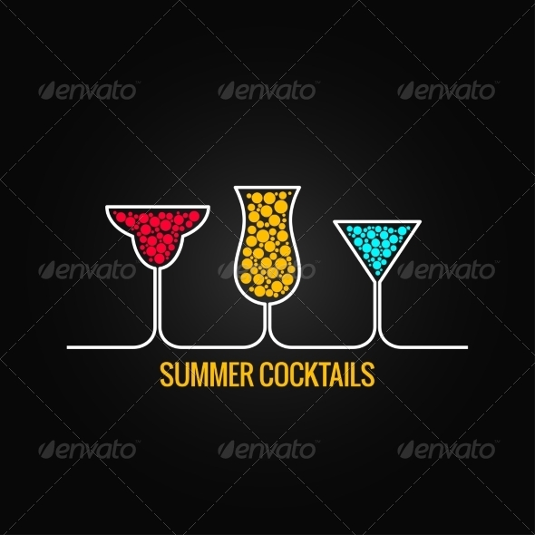 GraphicRiver Summer Cocktails Background 7974157