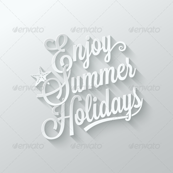 GraphicRiver summer Holidays Cut Paper Background 7974173