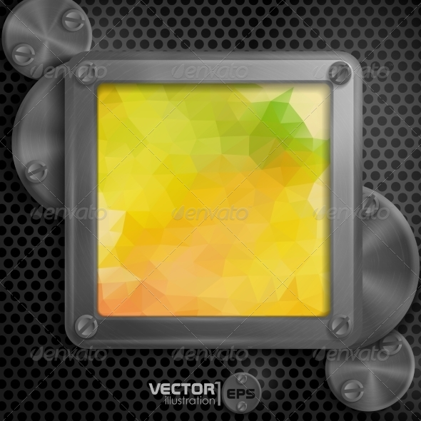 GraphicRiver Metallic Frame With Screws 7974178
