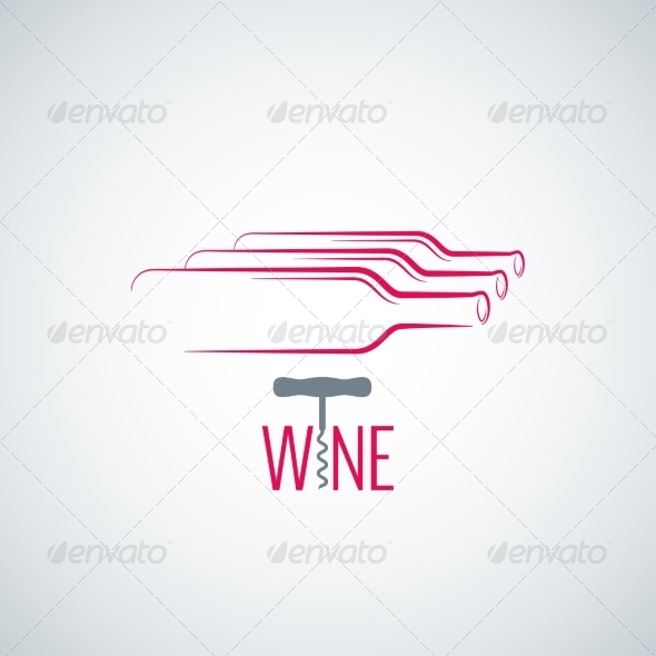 GraphicRiver Wine Bottle Corkscrew Background 7974188