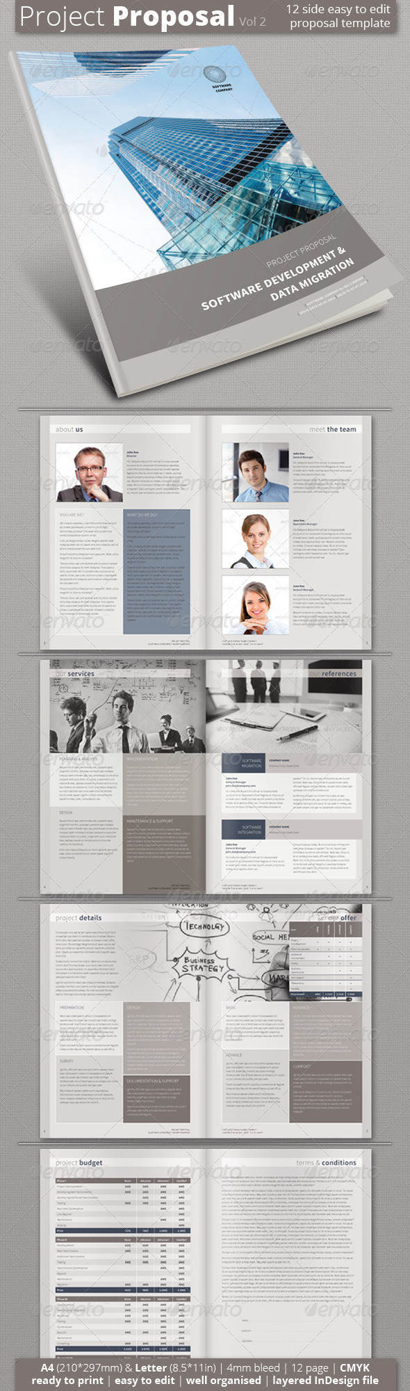 Project Proposal (Vol 2) - Proposals & Invoices Stationery