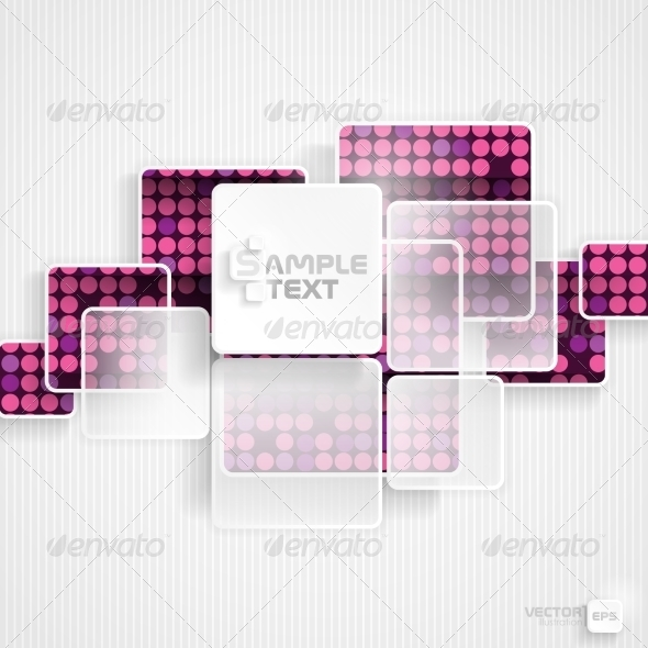 Square Element On Stripes Background