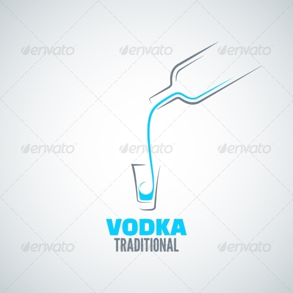 GraphicRiver Vodka Bottle Background 7974200