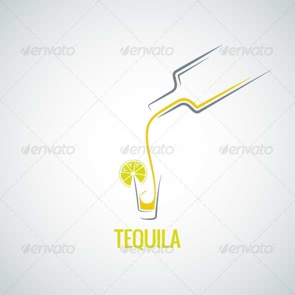 GraphicRiver Tequila Bottle & Glass Background 7974202