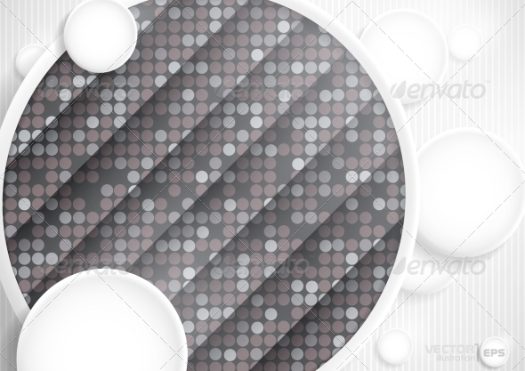 GraphicRiver Abstract Background With White Paper Circles 7974209