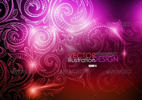 GraphicRiver Neon Pattern Background 7974213