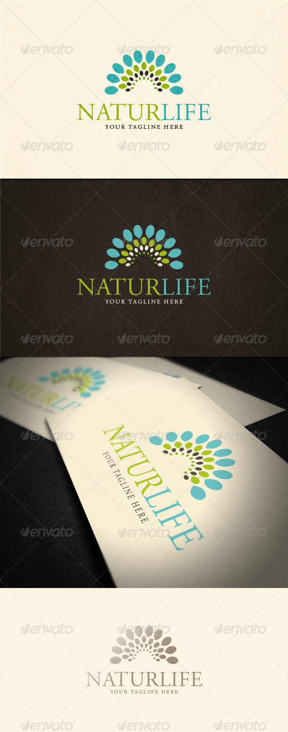Naturlife Logo Template - Vector Abstract