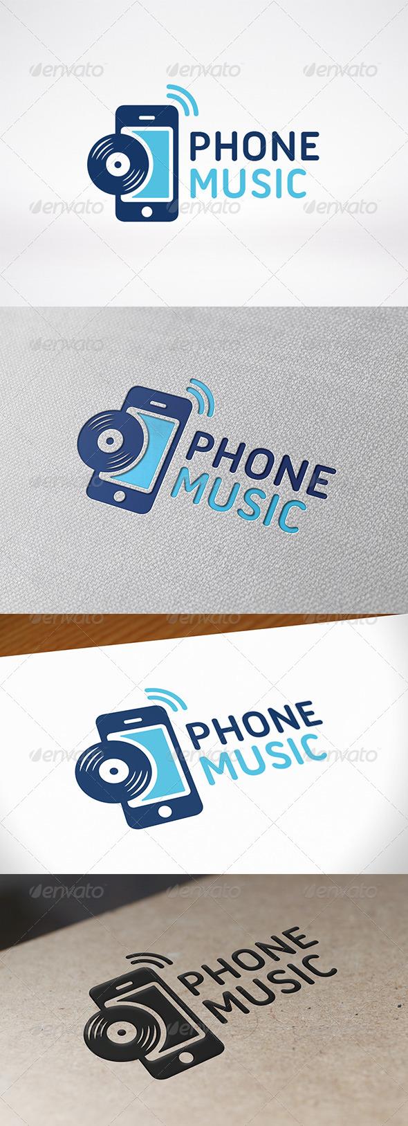 Phone Music Logo Template