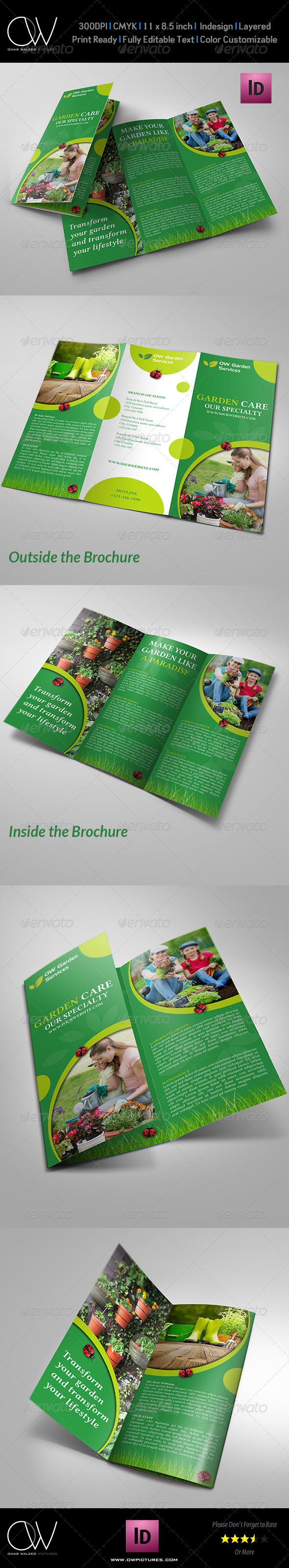 GraphicRiver Garden Services Tri-Fold Brochure Template 7974291