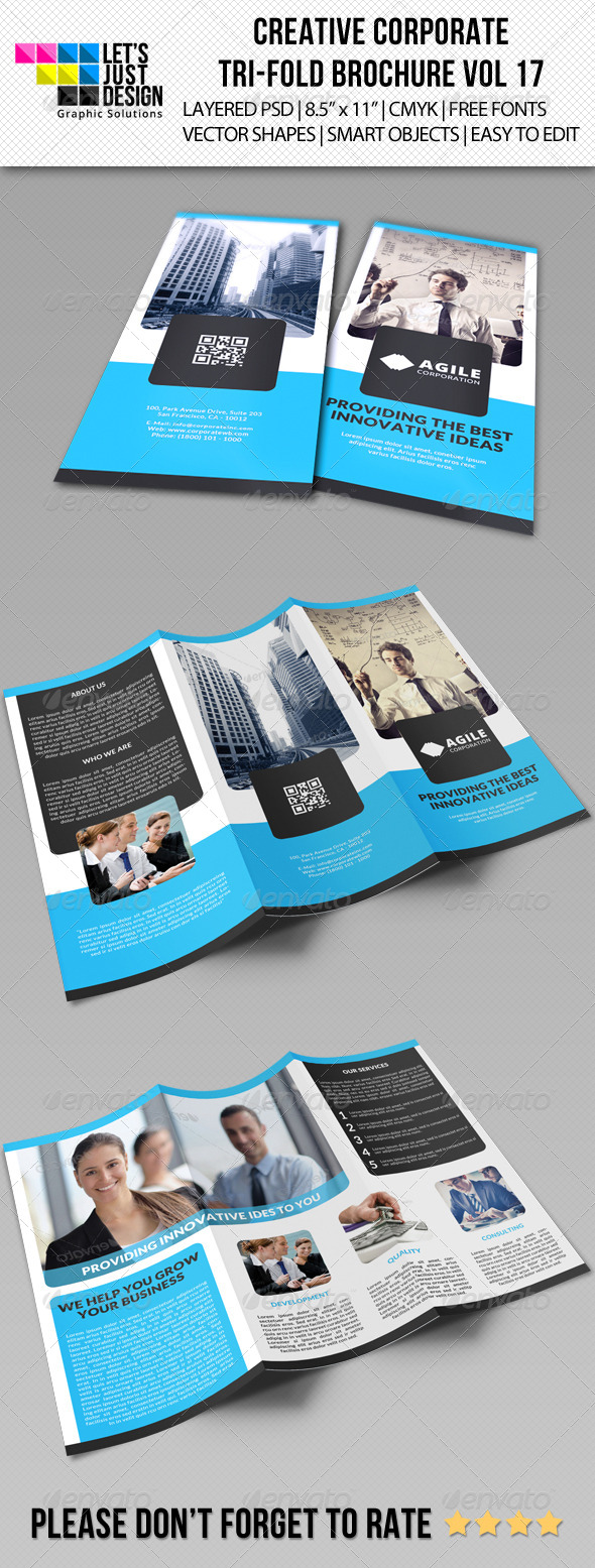 Creative Corporate Tri-Fold Brochure Vol 17