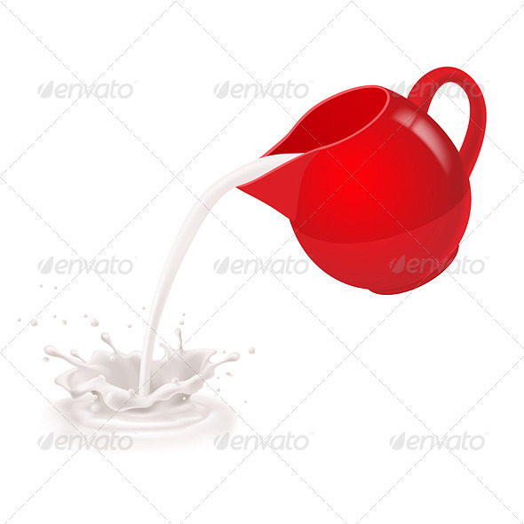 Milk Poured from a Jug