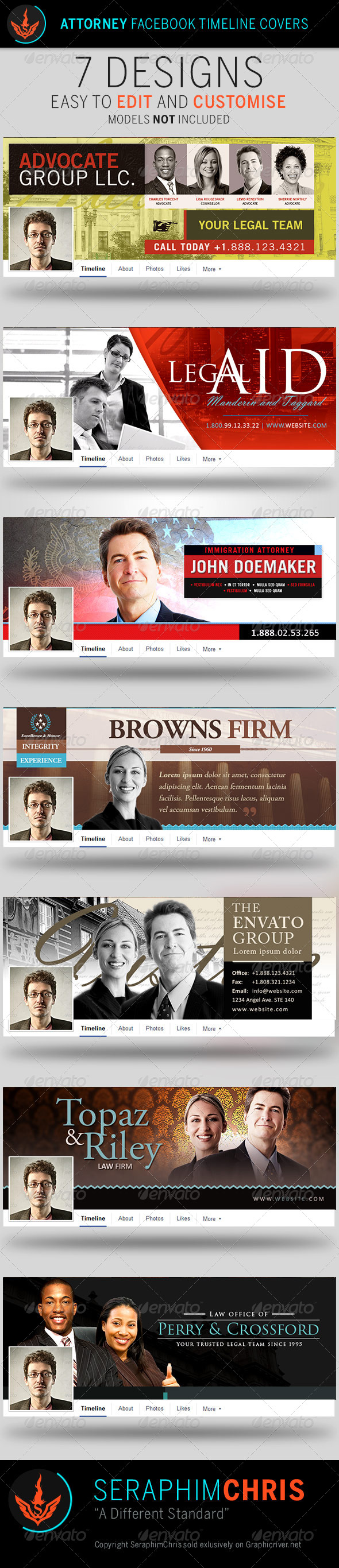 GraphicRiver Attorney Facebook Timeline Cover Templates 7974427