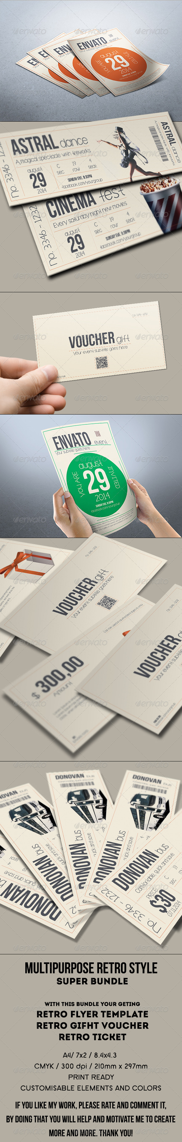 GraphicRiver Retro Style Event Bundle 7974441