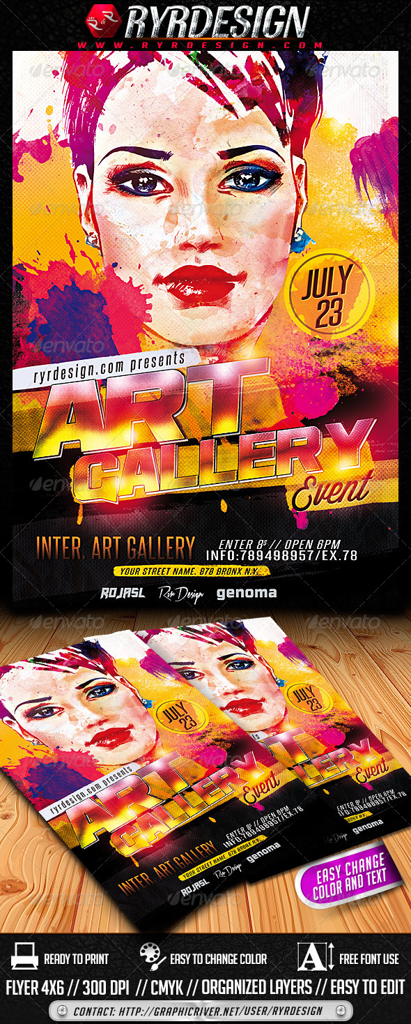 GraphicRiver Art Gallery Event PSD Flyer 7974495