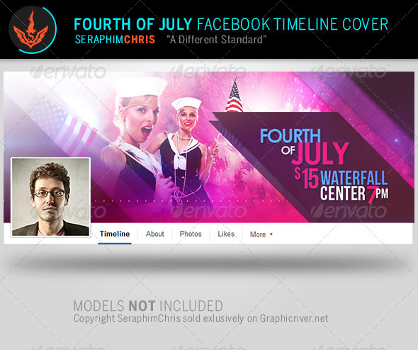 GraphicRiver Fourth of July Facebook Timeline Cover Template 7974679