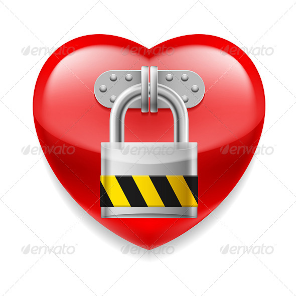 GraphicRiver Heart with Lock 7974682