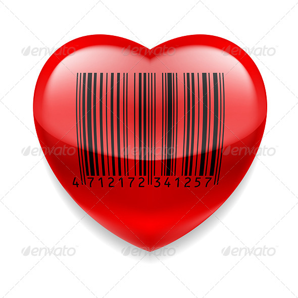GraphicRiver Heart with Barcode 7974683