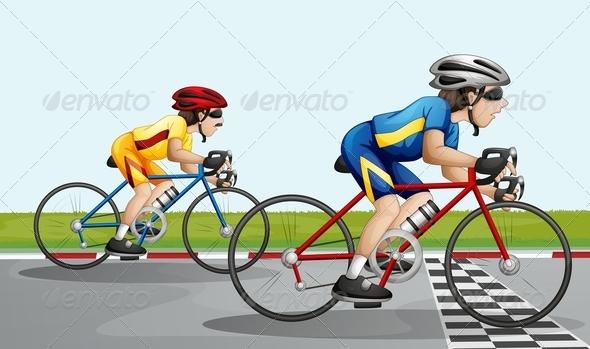 GraphicRiver Bikers Racing 7974704