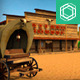 Low Poly Cartoonish Western Pack - 3DOcean Item for Sale