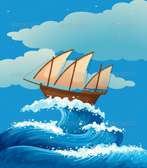 GraphicRiver Ship on Waves 7974717