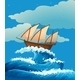Ship on Waves - GraphicRiver Item for Sale